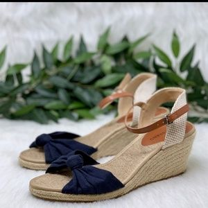 Lucky Brand|Leather Wedges with Bow